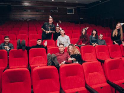 Запуск привітання з днем народження в кінотеатрі у Львові